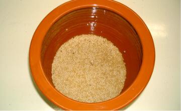洗浄後の無農薬大豆